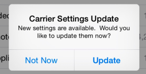 carrier settings update