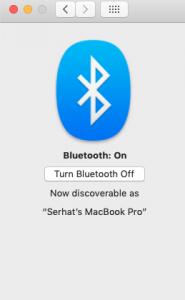 turn off Bluetooth