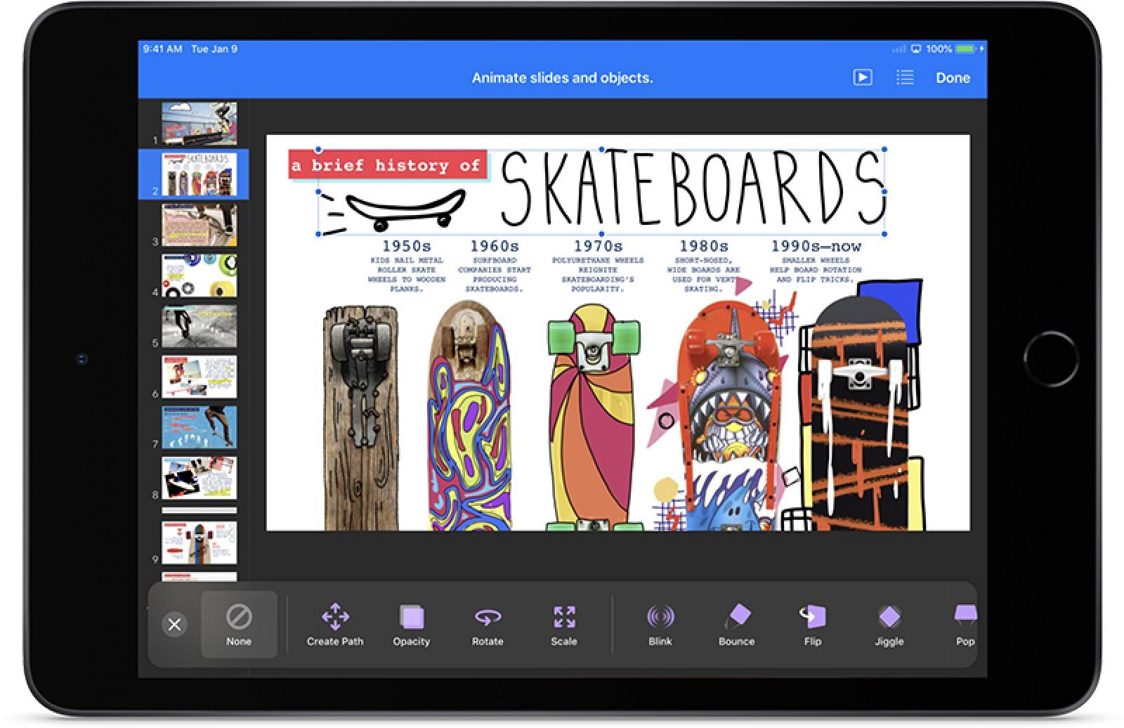 Apple actualiza las aplicaciones iWork con una integración mejorada de Apple Pencil, formas personalizadas y más