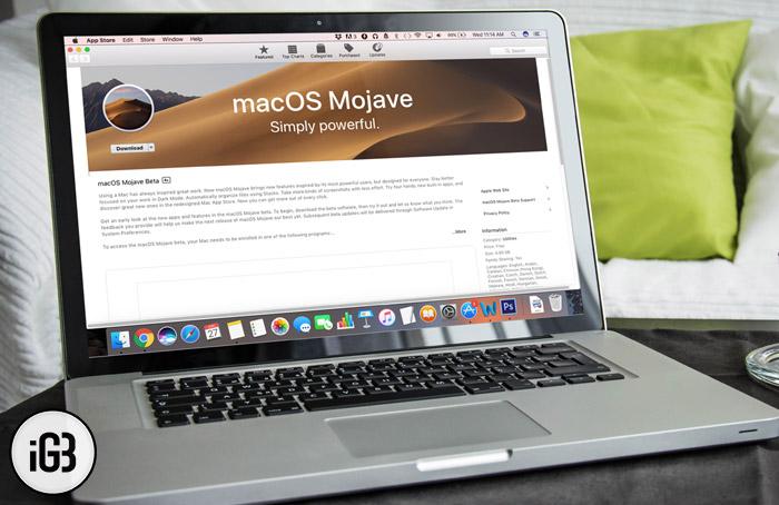 Cómo instalar macOS Mojave 10.14.4 Public Beta 5 en Mac