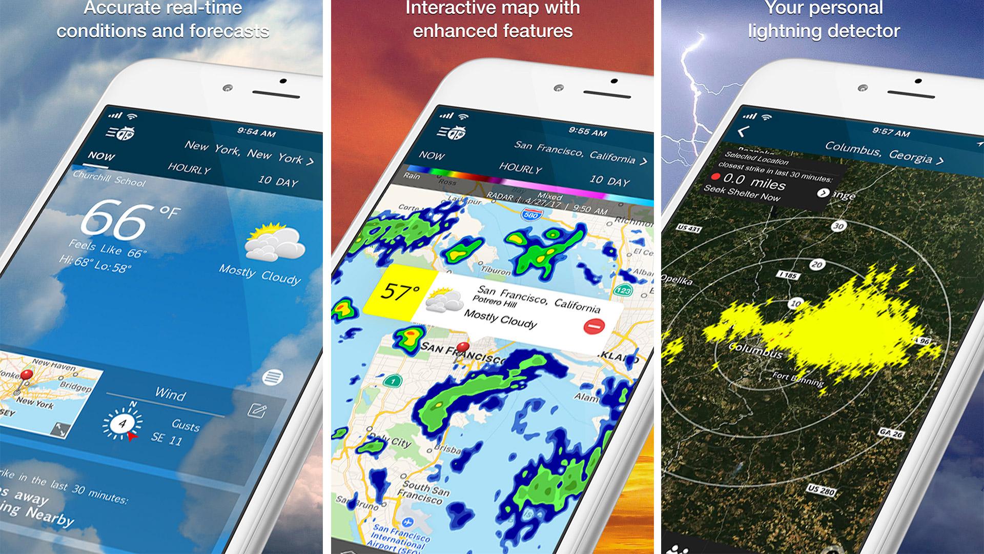 Las mejores aplicaciones meteorológicas para iPhone de 2019 que se mantendrán actualizadas con pronósticos hiper-locales