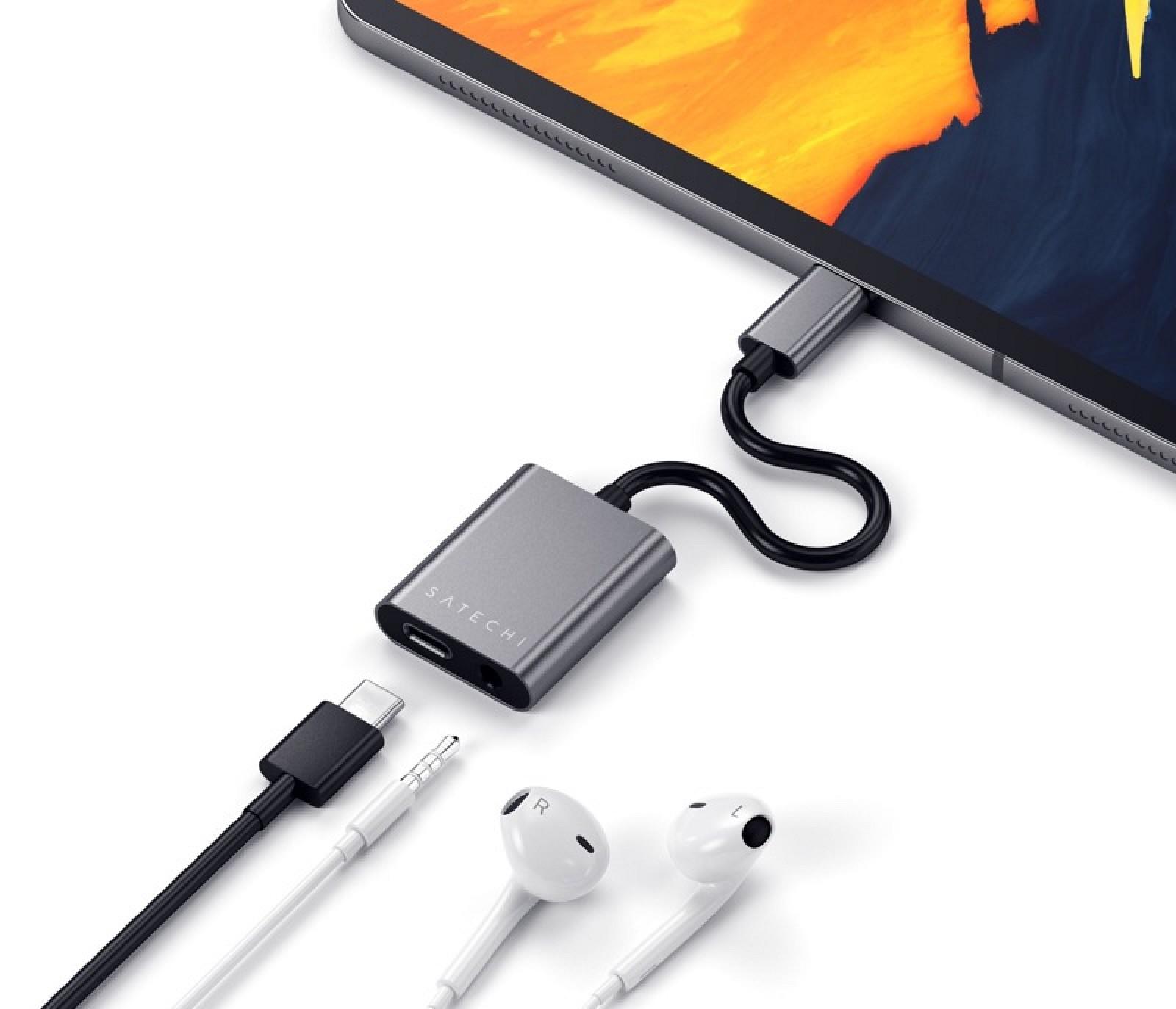 Satechi lanza el nuevo adaptador de conector para auriculares USB-C y el cable de carga de 100W USB-C