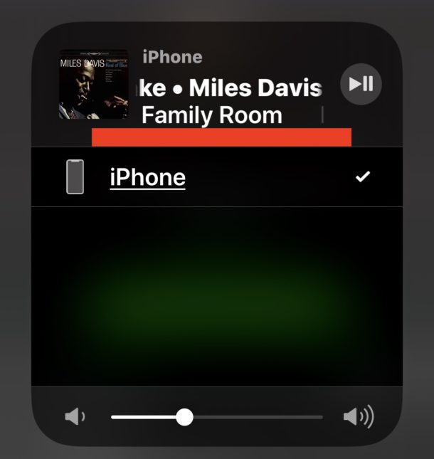 AirPlay reproduce audio desde iPhone a Sonos a pesar de que la fuente de audio de Airplay no se muestra en el Centro de Control