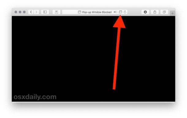 Permitir ventanas emergentes por sitio web en Safari para Mac