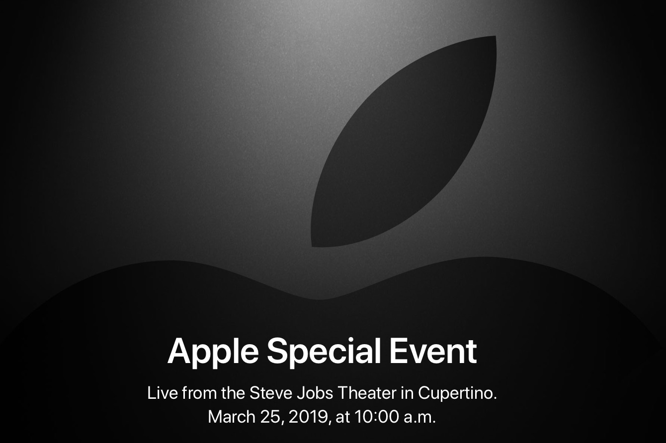 Apple special event for March 25 2019