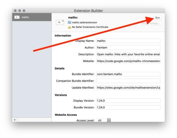 Cómo pasar por alto el mensaje de advertencia de error de extensión insegura de Safari en Mac