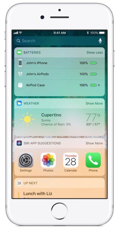 Cómo ver el nivel de la batería de AirPods y la duración de la batería en el widget Baterías de iOS
