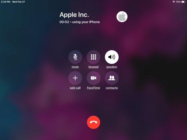 Cómo hacer una llamada desde iPad