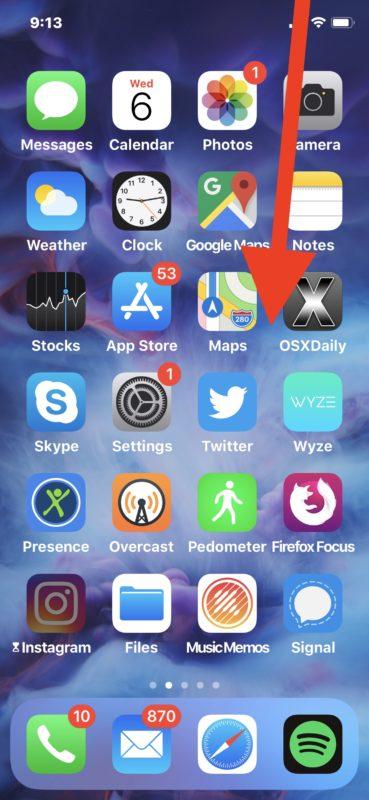 Cómo acceder a los controles de audio de AirPlay en iOS