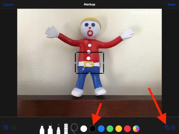 Cómo agregar un borde a una foto en iPhone o iPad