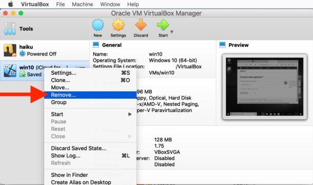 Cómo eliminar una máquina virtual en VirtualBox