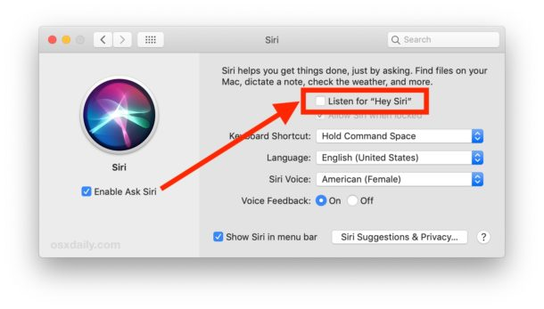 Cómo habilitar Hey Siri en Mac
