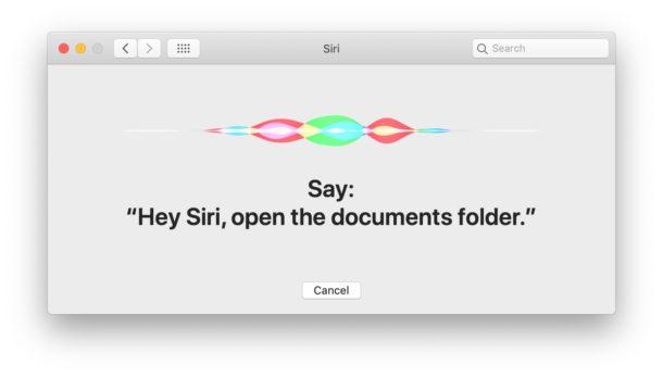 Configurando Hey Siri en Mac