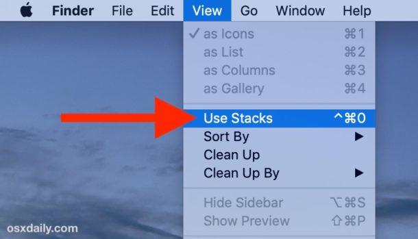 Cómo habilitar pilas en MacOS Desktop