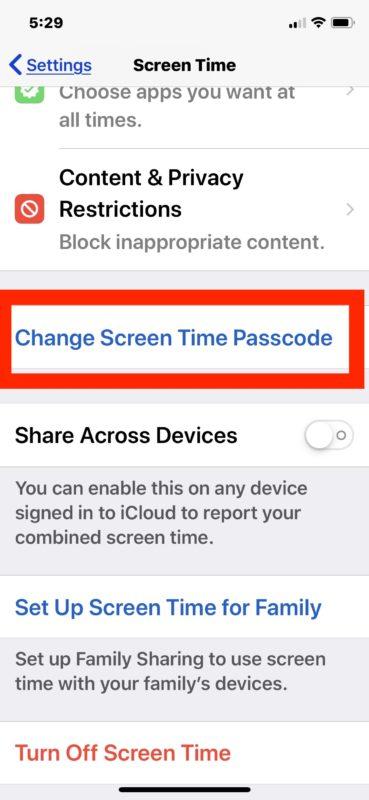 Cómo desactivar la contraseña para el tiempo de pantalla en iOS