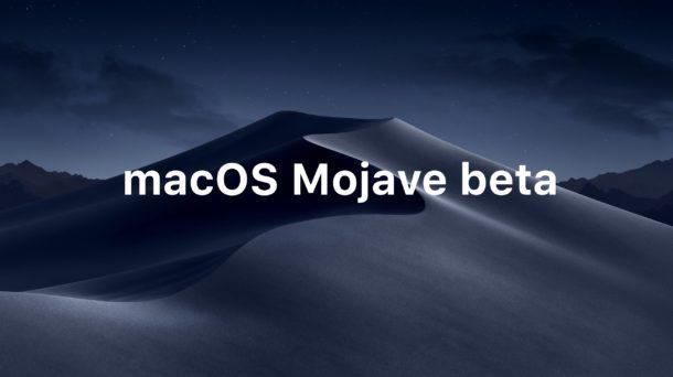 MacOS Mojave beta