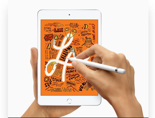 iPad mini con lápiz de manzana