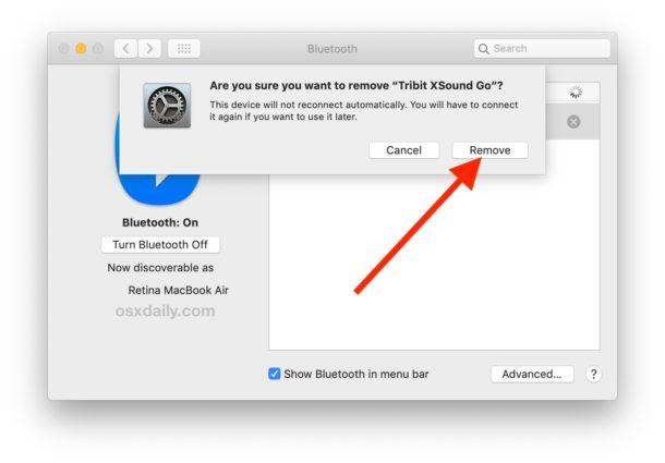 Cómo eliminar un dispositivo Bluetooth de una Mac