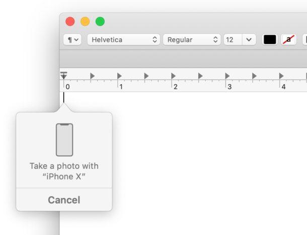 Tomar una foto con iPhone en la cámara de continuidad en Mac