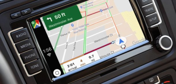 Usando Google Maps en CarPlay