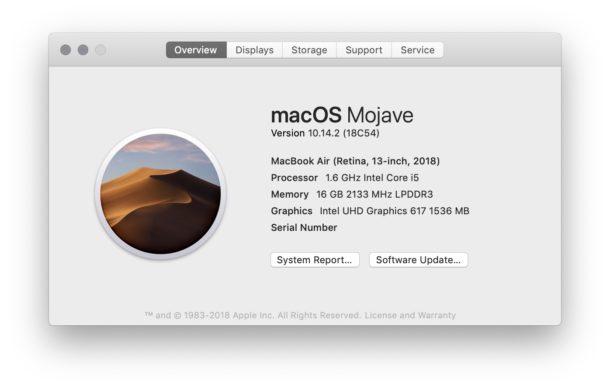 Vea qué versión de Mac OS se está ejecutando en una Mac