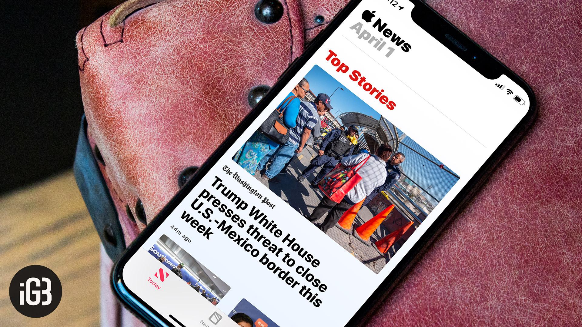 Cómo arreglar Apple News App que sigue fallando en el iPhone o iPad