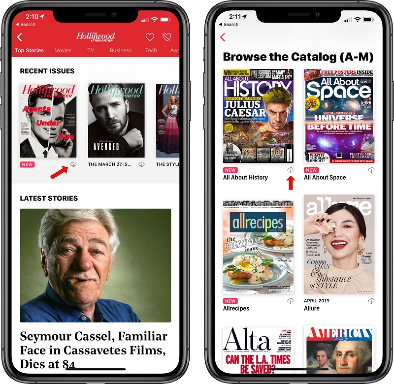 Cómo descargar una revista para leer sin conexión en Apple News +