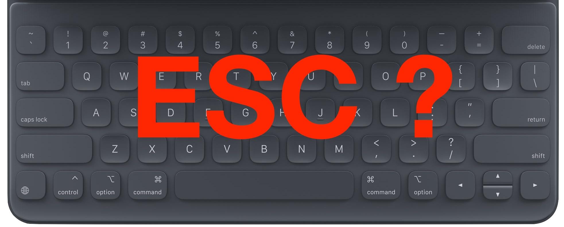 Cómo escribir la tecla Escape en el teclado del iPad