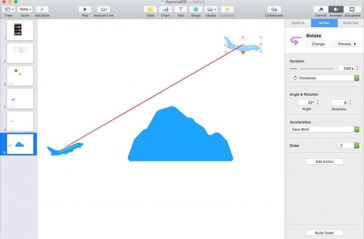 Cómo animar objetos en una diapositiva en Keynote en Mac