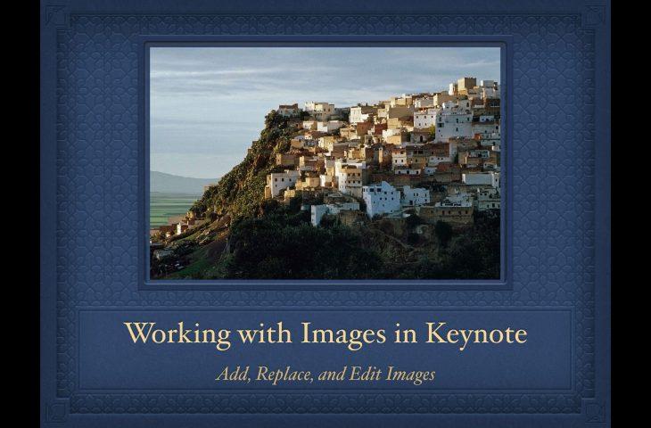 Cómo trabajar con imágenes en presentaciones de Keynote en Mac
