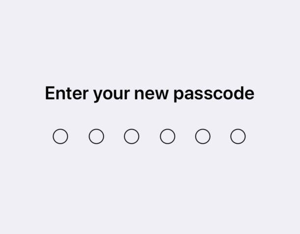 Cambiando el código de acceso en iOS