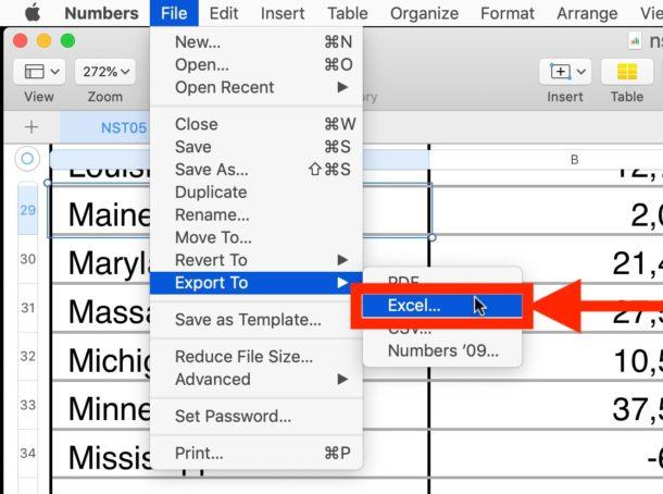 Cómo convertir números a Excel en Mac