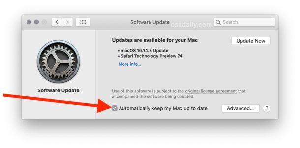 Cómo habilitar las actualizaciones automáticas de MacOS