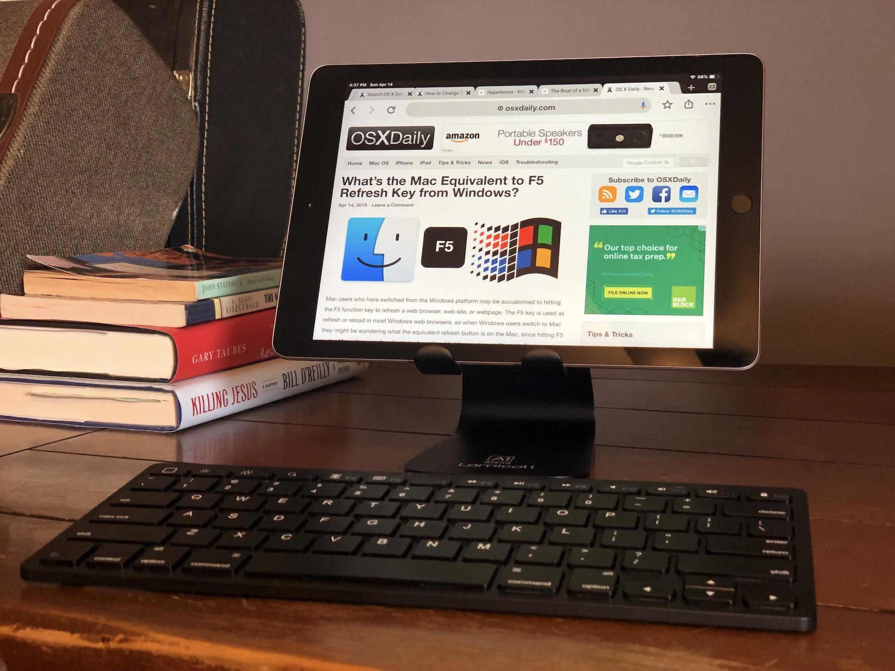 22 Chrome para iPad Atajos de teclado