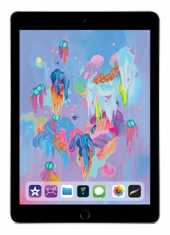 iPad en el espacio gris