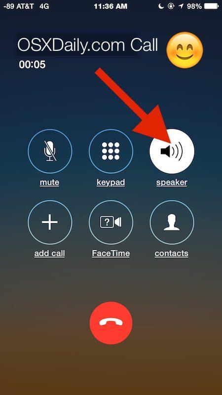 Cómo usar el teléfono con altavoz para llamadas telefónicas en iPhone