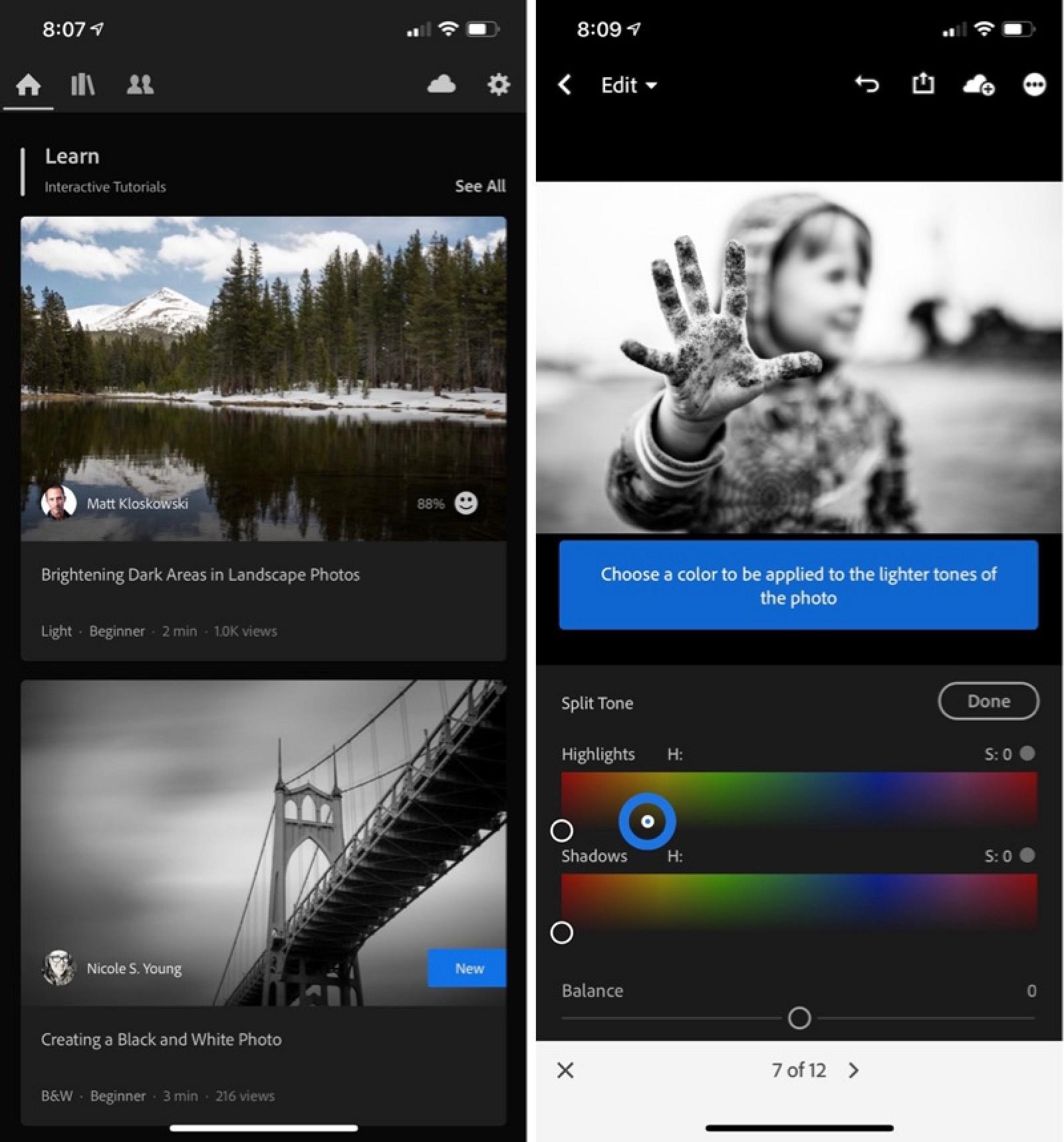 Adobe actualiza las aplicaciones Lightroom para Mac y iOS con nuevos tutoriales, herramienta de textura y más