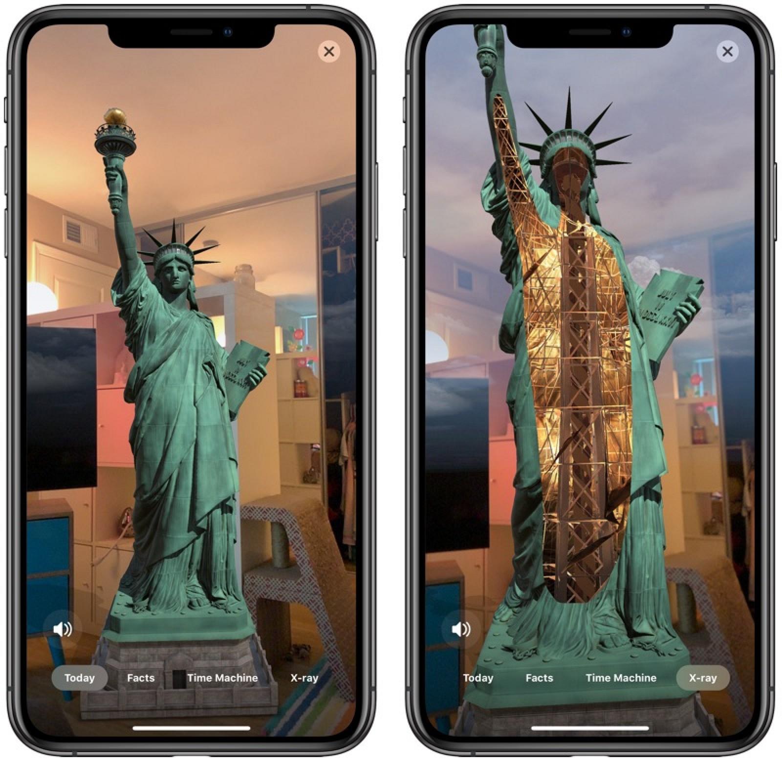 El CEO de Apple, Tim Cook, promueve la aplicación de realidad aumentada de la Estatua de la Libertad