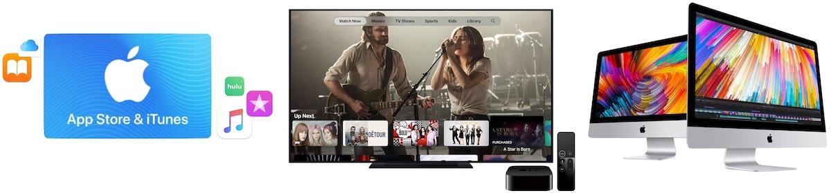 Ofertas: $ 50 en tarjetas de regalo de iTunes por $ 42.50, $ 10 en películas 4K de iTunes, hasta $ 500 de descuento en 2017 iMacs y más