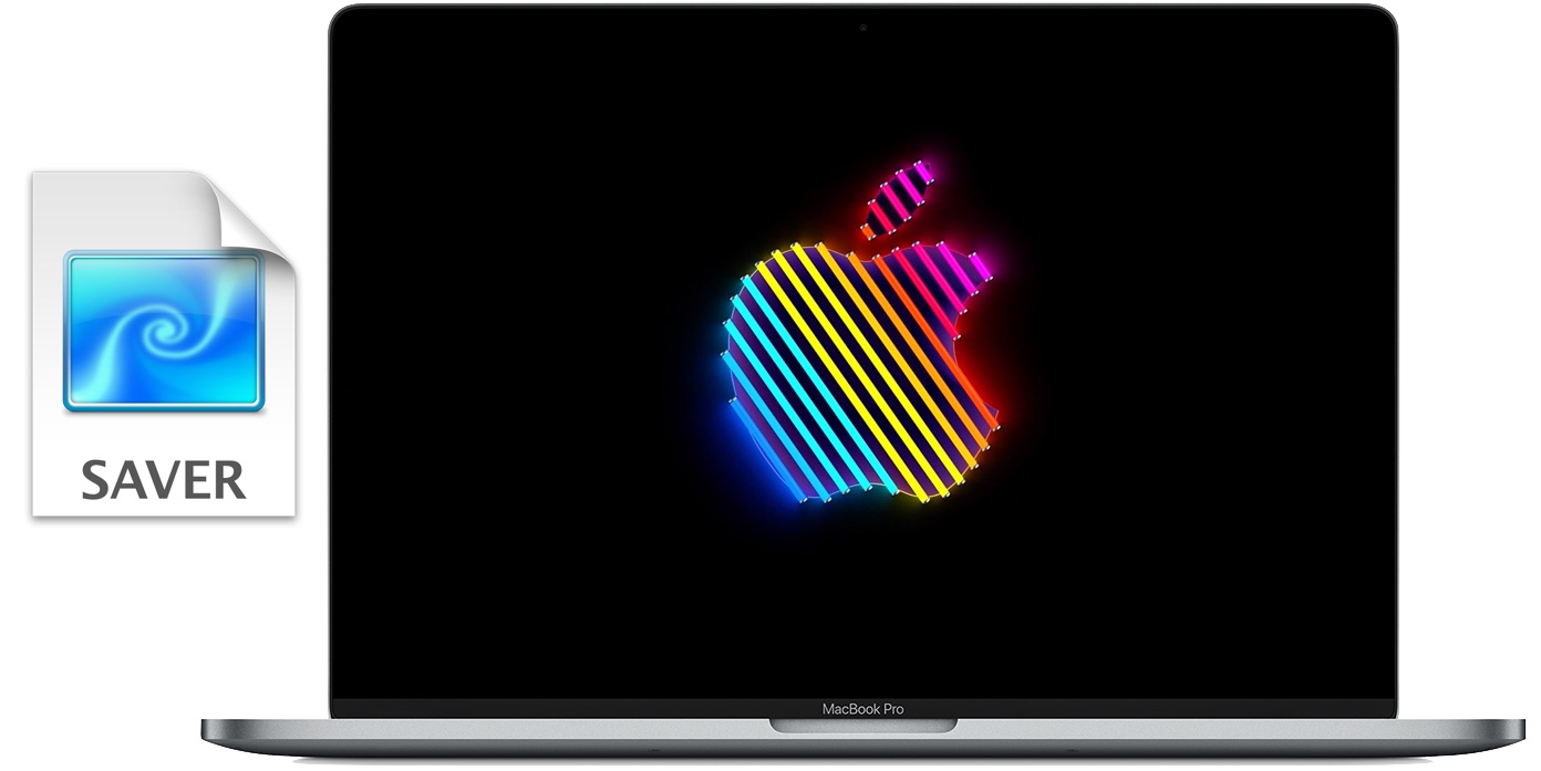 Brooklyn animated Apple logo screen saver