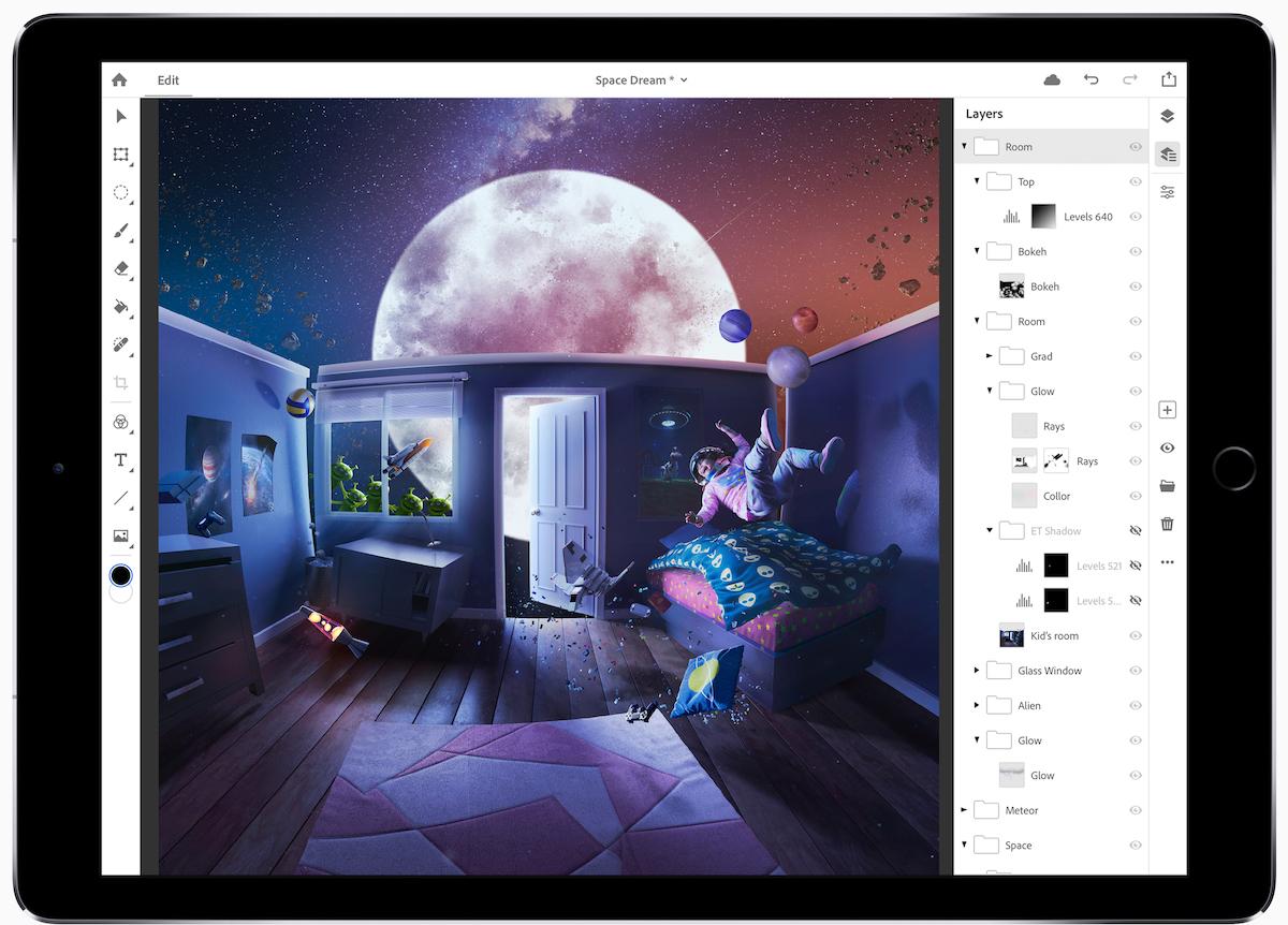 Los suscriptores de Creative Cloud ahora pueden suscribirse al programa beta de Photoshop para iPad