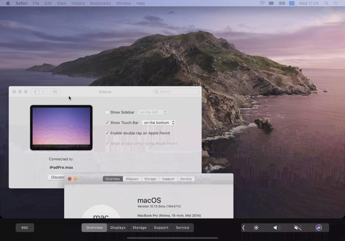 Sidecar in macOS Catalina ofrece controles de barra táctil a los usuarios de Mac de barra no-táctil