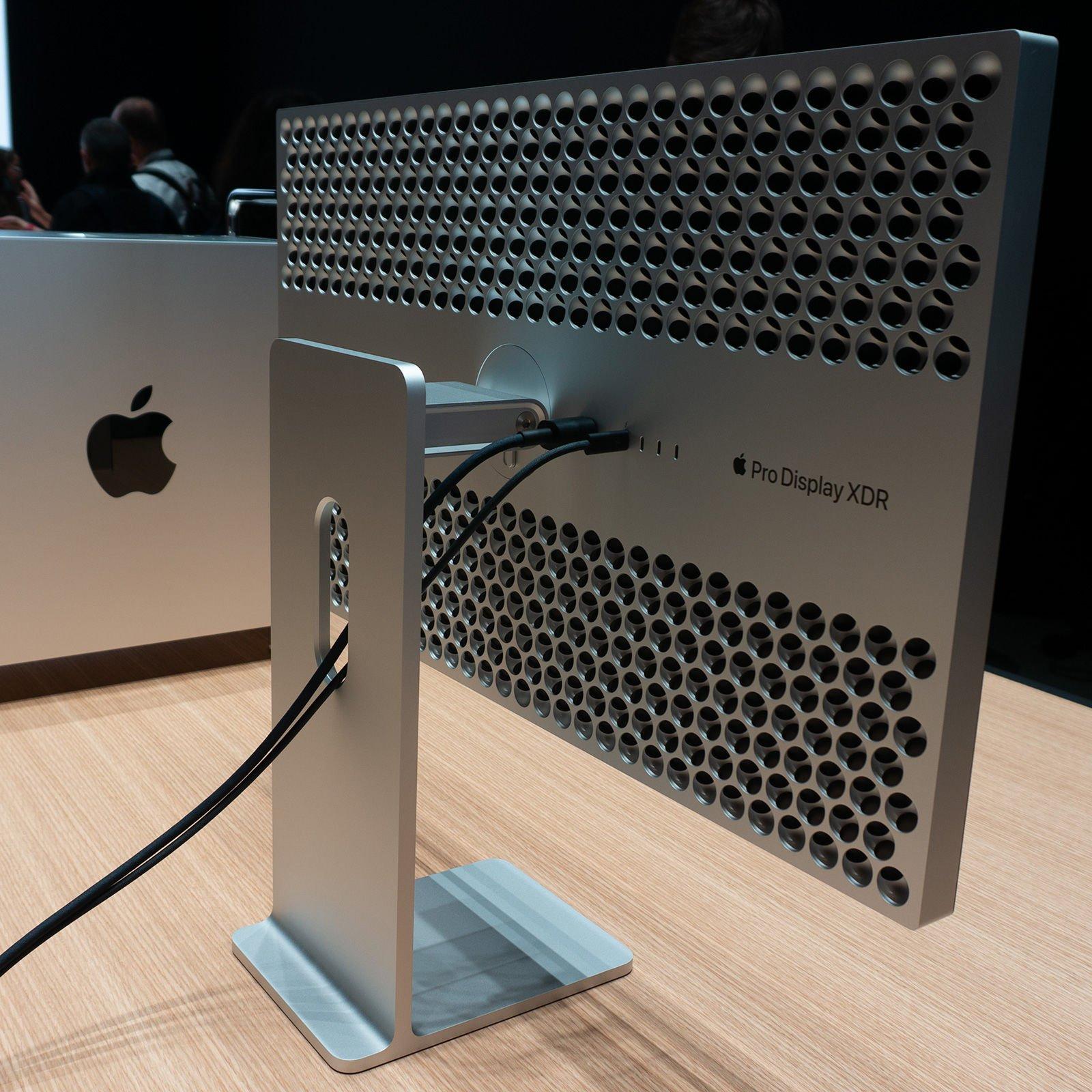 Apple Pro display revisión XDR: diseño trasero