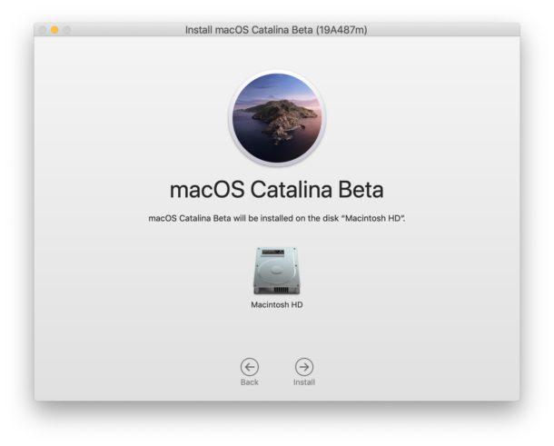 Elija el disco para instalar MacOS Catalina en
