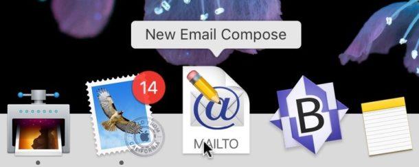 Cómo crear un acceso directo de composición de Nuevo mensaje de correo electrónico para el Dock en Mac