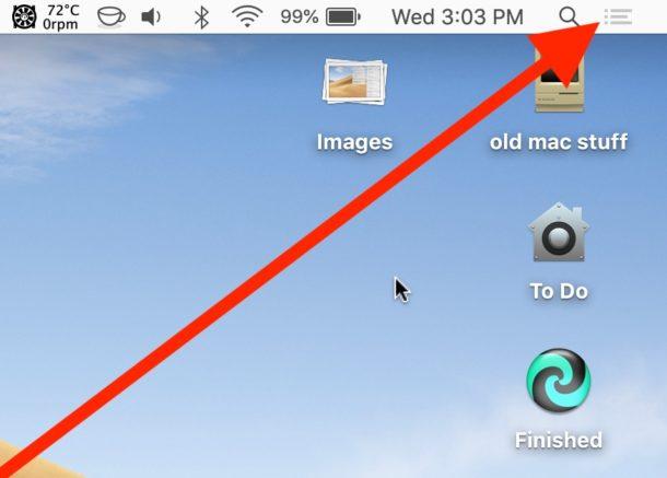Cómo deshabilitar el modo No molestar en Mac rápidamente desde la barra de menú