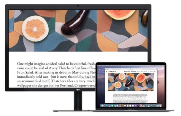 Segunda pantalla de zoom en Mac