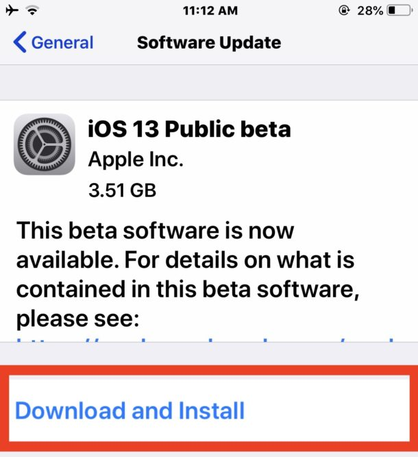 Descarga e instala la beta pública de iOS 13 en iPhone