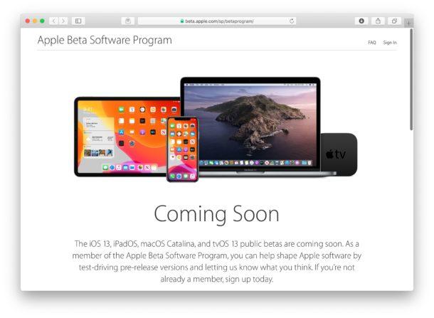 Public Beta de iOS 13 y iPadOS en julio.