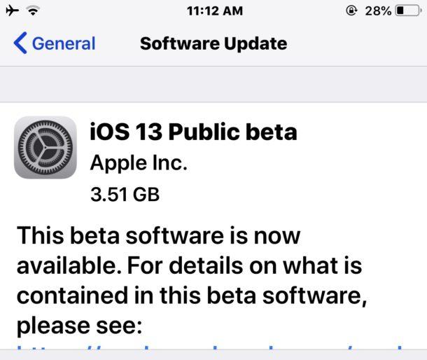 iOS 13 descarga pública beta